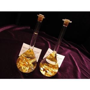 22K純金入りミニボトル フラスコタイプ 金運UP 高級感バツグン 純金 ゴールド パワーストーン 風水 インテリア フランス・サン・マリー商品|maimustone-y