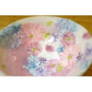 工房ゆずりは 色彩花 飯椀 瀬戸焼 茶碗 花柄 プレゼント 敬老の日 ギフト 内祝い|maimustone-y|02