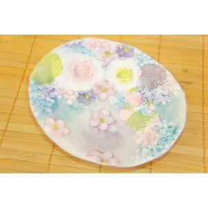 即納できます 工房ゆずりは 彩ばら花紋 ケーキ皿 瀬戸焼 皿 デザート皿 花柄 紫 プレゼント ギフト 内祝い|maimustone-y
