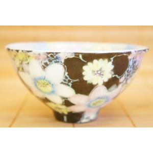 即納できます 工房ゆずりは 彩白絵花 飯椀 瀬戸焼 茶碗 花柄 プレゼント ギフト 内祝い|maimustone-y