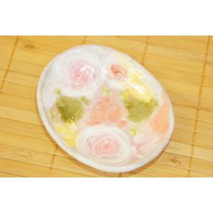 工房ゆずりは 釉彩ローズ 小皿 瀬戸焼 花柄 ピンク プレゼント ギフト 内祝い|maimustone-y