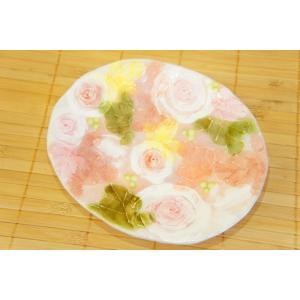 工房ゆずりは 釉彩ローズ ケーキ皿 瀬戸焼 皿 デザート皿 花柄 ピンク プレゼント ギフト 内祝い maimustone-y