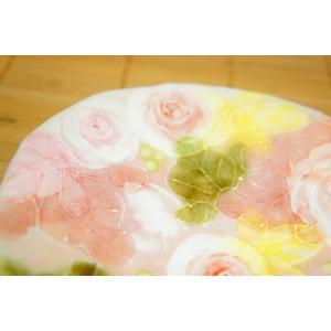 工房ゆずりは 釉彩ローズ ケーキ皿 瀬戸焼 皿 デザート皿 花柄 ピンク プレゼント ギフト 内祝い maimustone-y 03