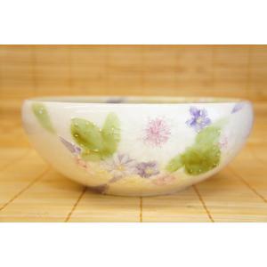 即納できます 工房ゆずりは 花かざり 預け鉢 瀬戸焼 大皿 花柄 紫 プレゼント ギフト 内祝い 送料無料|maimustone-y