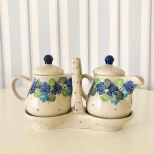オイルポット & ビネガーポット ポーリッシュポタリー Ceramika Artystyczna ツェラミカ アルティスティチナ maison-fleurie