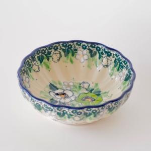 12cm フリルボウル  ポーリッシュポタリー Ceramika Artystyczna セラミカ ツェラミカ アルティスティチナ|maison-fleurie