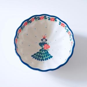 12cm フリルボウル ポーリッシュポタリー Ceramika Artystyczna ツェラミカ アルティスティチナ|maison-fleurie