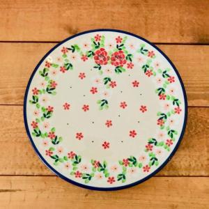 プレート 20cm ポーリッシュポタリー  ツェラミカ  アルティスティチナ カフェ 陶器 皿 食器 耐熱  おしゃれ かわいい 可愛い 花柄 プレゼント|maison-fleurie