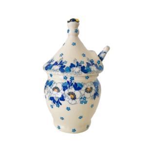 ハニーポット &ハニーディッパーセット ポーリッシュポタリー ツェラミカ アルティスティチナ はちみつポット 陶器 耐熱 おしゃれ かわいい 花柄 プレゼント|maison-fleurie