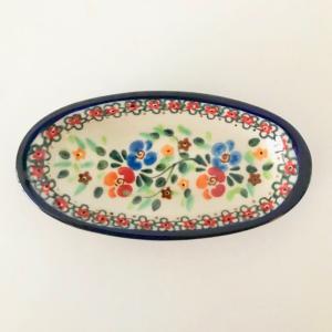 ミレナ スモールオーバルディッシュ ポーリッシュポタリー Millena 陶器 プレート|maison-fleurie