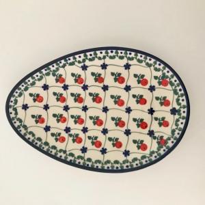 ミレナ プレート たまご型 ポーランド食器 ポーリッシュポタリー Millena 陶器|maison-fleurie