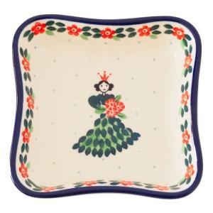 スクエアプレート ポーリッシュポタリー セラミカ Ceramika Artystyczna ツェラミカ アルティスティチナ プレート|maison-fleurie