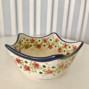 エトワールボウル ポーリッシュポタリー  ツェラミカ  アルティスティチナ カフェ 陶器 食器 耐熱 ボウル 大 鉢 おしゃれ かわいい 可愛い 花柄 プレゼント|maison-fleurie