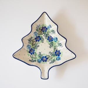ツリープレート ポーリッシュポタリー ツェラミカ アルティスティチナ 陶器 クリスマス ツリー|maison-fleurie