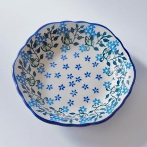 17cm フリルプレート ポーリッシュポタリー Ceramika Artystyczna ツェラミカ アルティスティチナ セラミカ プレート|maison-fleurie