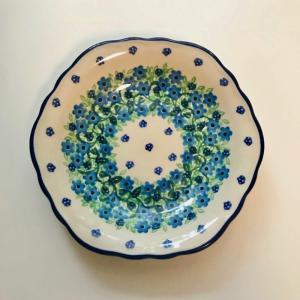 17cm フリルプレート ポーリッシュポタリー Ceramika Artystyczna ツェラミカ アルティスティチナ プレート|maison-fleurie