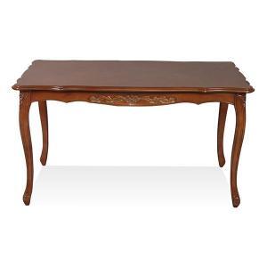 フィオーレ ダイニングテーブル ブラウン 155cm|maisondumarche