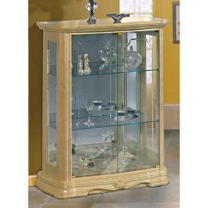 【送料無料】サルタレッリ/アマルフィ/2ドアグラスカップボード幅92cm/アイボリー|maisondumarche