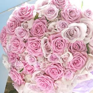 バラの花束 古希 お祝い 15000円 紫 バラ 70本 長寿のお祝い 祝 配送無料  フラワーギフ...