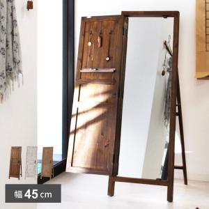 スタンドミラー 全身 姿見 鏡 ミラー おしゃれ 飛散防止 木製 アンティーク 扉付き 安い