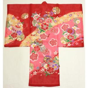 女の子夏のお宮参り着物(絽)dgro02  赤|maisugata
