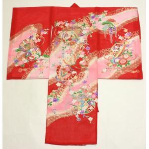 女の子夏のお宮参り着物(絽)dgro03  赤|maisugata