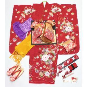 女の子7歳刺繍入り着物20点セット 正絹hag02|maisugata