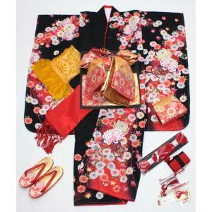 女の子7歳刺繍入り着物20点セット 正絹hag03|maisugata