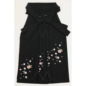 7歳女児袴[黒]刺繍入り maisugata