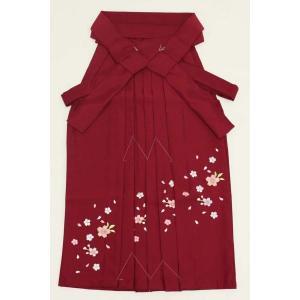 7歳女児袴[えんじ]刺繍入り maisugata