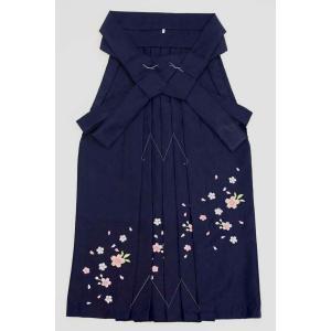 7歳女児袴[紺]刺繍入り maisugata