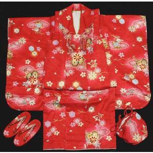 女の子3歳着物8点セット 正絹hsb15