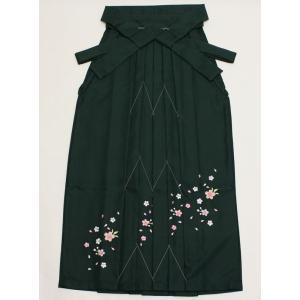女性袴Lサイズ[緑]刺繍入り maisugata