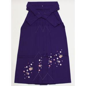 女性袴Lサイズ[紫]刺繍入り maisugata