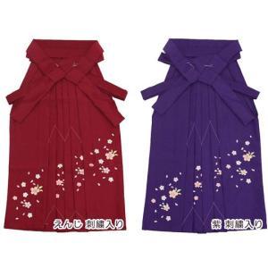 女児袴[えんじ][紫]刺繍入り 95cm-150cm用7サイズ maisugata