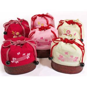 女の子カゴ付き刺繍巾着kish01-06|maisugata