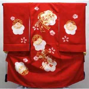 女の子お宮参り着物pan02 赤 maisugata