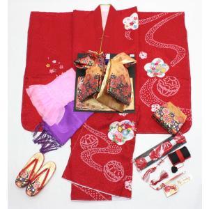 女の子7歳高級絞り刺繍入り着物20点セット正絹sui03|maisugata