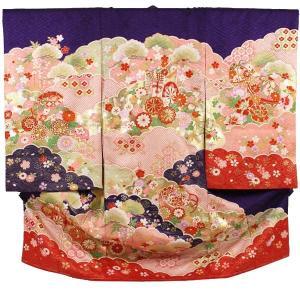 女の子お宮参り着物tegb01 紫 ピンク|maisugata