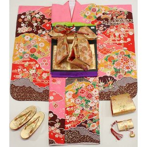 女の子7歳着物20点セット 正絹wask02|maisugata