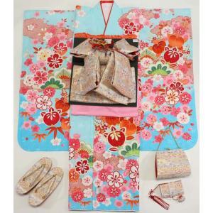 女の子7歳着物20点セット 正絹wask03|maisugata