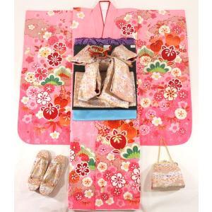 女の子7歳着物20点セット 正絹wask07|maisugata