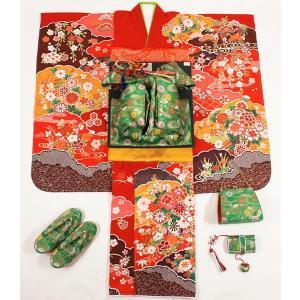 女の子7歳着物20点セット 正絹wask08|maisugata