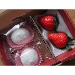 苺大福 いちごのしあわせ 和菓子 ギフト (2個セット)|mak
