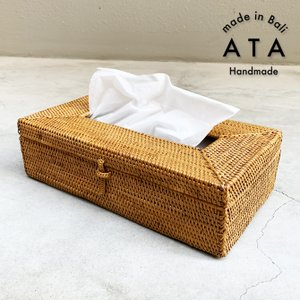 アジアン雑貨 インテリア アタ製 ティッシュケース おしゃれ 大 バリ雑貨 makai