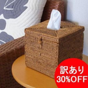 アウトレット10%OFF アジアン雑貨 インテリア アタ製 トイレットティッシュケース アタ ロールペーパーホルダー(角型)バリ雑貨 makai