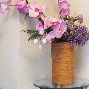 アジアン雑貨 インテリア アタ製 フラワーベース バスケット バリ雑貨 makai