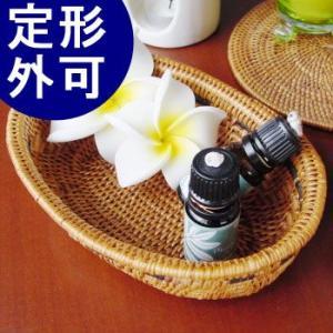 アジアン雑貨 アタ製 小物入れ(楕円・模様あり) バリ雑貨 makai
