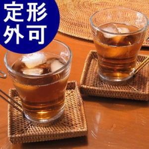 アジアン雑貨 アタ製 コースター(角型・縁あり) おしゃれ バリ雑貨 makai