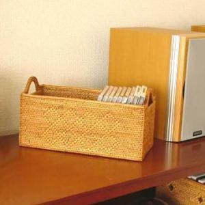 アジアン雑貨 インテリア アタ製 長方形ボックス 長(模様あり) バリ雑貨 makai